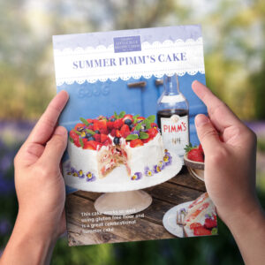 Summer Pimm's Cake Recipe Card
